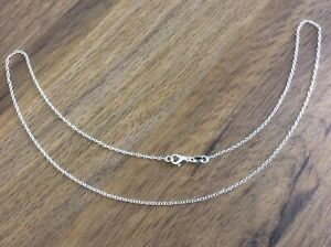 925 SILVER ROLO BELCHER 1MM FINE LINK CHAIN NECKLACE ALL INCH SIZES UK SELLER