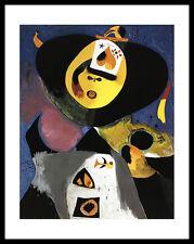 Joan Miro Portrait No. 1 Poster Bild Kunstdruck im Alu Rahmen in schwarz 71x56cm