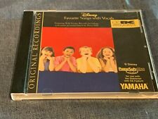 Disney Favorite Songs with Vocals Yamaha PianoSoft Plus Audio CD for Disklavier