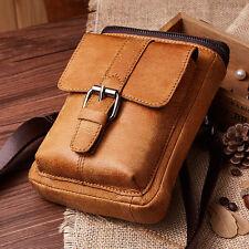 Retro Men's Genuine Leather Belt Fanny Waist Bag Messenger Shoulder Hip Bum Pack