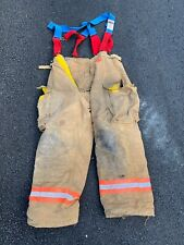 Morning Pride Fire Fighter Turnout Pants With Suspenders 38x31 Good Condition