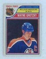 Wayne Gretzky 1985-86 O Pee Chee Goals Leaders Hockey Card #257 Excellent