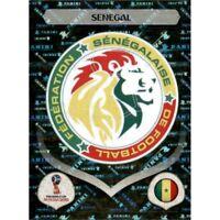 Panini WM 2018 612 Senegal World Cup WC 18Wappen Logo Glitzer Foil