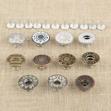 50Pcs 17mm 11 Style Jeans Buttons Metal Shank Fit Sewing Garment Accessories