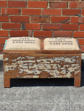 NEW Recycled Timber Distressed Country Blanket Box Double Storage Seat