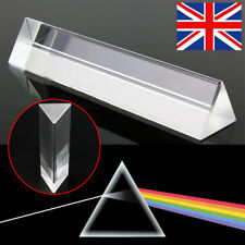 4'' Optical Glass Triangular Prism Physics Refractor Light Spectrum Teaching Box