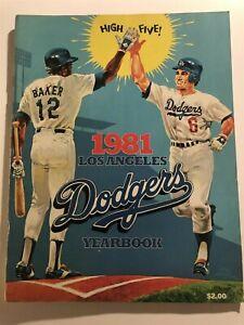 1981 LOS ANGELES DODGERS Yearbook STEVE GARVEY Tom LASORDA Ron CEY Davey LOPES