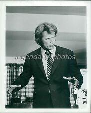 1972 Actor Clint Eastwood with Hands Raised Original News Service Photo