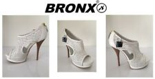 Ladies Heeled Shoes Bronx Toffy Mesh White  Size Uk4 New Free Delivery