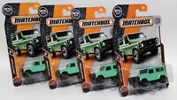 LAND ROVER 90 * LOT OF 4 * 2018 MATCHBOX * GREEN DEFENDER RANGER NATIONAL PARKS