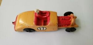 """Tootsietoy Ford V-8 Hot Rod - Very good shape with driver. 6"""" long - Flathead"""