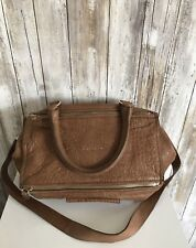 GIVENCHY Pandora Medium Messenger Crossbody Light Brown Tan Leather Bag * RARE!