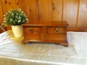 Mid Century Solid Cherry L. & G. Stickley Jewelry Box Dated Dec 11 1958