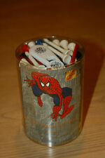 VINTAGE SPIDERMAN GOLF COLLCTION - TOWEL, CLIP, TEES, DIVOT - NIP