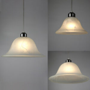 7.5''/12'' MURANO STYLE FROSTED GLASS PENDANT OR UPLIGHTER LAMPSHADES FOR REPLAC