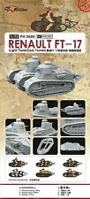 Flyhawk 1/72 FH-3000 WWII French Renault FT-17 (Cast Turret) (2 Tanks in Box)