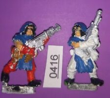 2 Cawdor Ganger's Autogun + Lasgun Necromunda Underhive METAL 1995 Gang Citadel