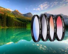 Zomei 77mm Pro GC Gradual Neutral Density Lens Filter Kit - Red Blue Orange Grey