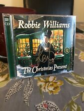 ROBBIE WILLIAMS SIGNED THE CHRISTMAS PRESENT CD AUTOGRAPH TAKE THAT LEGEND