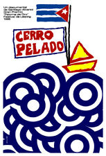 Movie Poster for cuban film CERRO Pelado.Yellow Boat.Home room art decoration