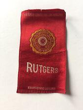 1910 Tobacco Cigarette College Silk Rutgers (180)