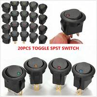 20x 3Pin Led Dot Light 12V Car Auto Boat Round Rocker ON/OFF Toggle Switch Sales