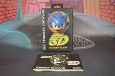 Caja + Manual Sonic 3D (Sega Mega Drive 1996) Sin juego