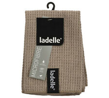 Ladelle Microfibre Dish Cloths pack of 3 Stone. Super Absorbent Quick Drying