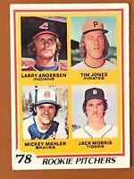 1978 Topps Jack Morris Rookie Card #703 VG - Tigers HOF