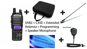 UV-82 Dual Band VHF/UHF Two-Way Radio- FREE Case, Programming, Antenna, Mic