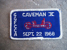 vintage 1968 GGFCCA Caveman X sports car club racing rally patch