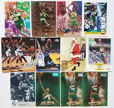 VINTAGE NBA CARDS 13 PCS ASSTD LOT - GARY PAYTON & SHAWN KEMP w/ INSERTS