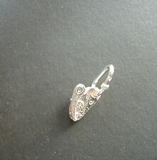 Discensore da roccia con Moschettone ciondolo in ARGENTO 925 sterling silver