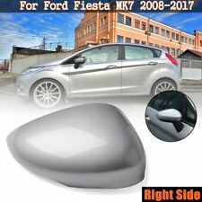 Right Driver Side Silver Wing Door Mirror Cover Cap Housing For Ford Fiesta MK7