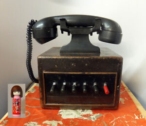 Vintage 1930s Dictograph Telephone System Switchboard Telephone in a Wooden Box!