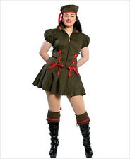 2Pc Naughty Soldier Roma Costume XL 12-14 Fancy Dress Part Hen Night Military