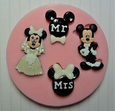 Mr & Mrs MICKEY & MINNIE Marriage Moule silicone pour décoration de gâteaux