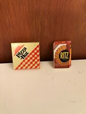 collectible magnets Pizza Hut and Ritz Crackers