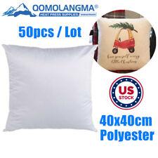 Us 50pc Throw Pillow Case Sofa Waist Fashion Cushion Cover Diy Sublimation Blank