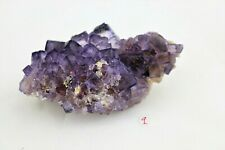 9) Purple Fluorite Crystal Cube Formation Morocco Collectors Mineral