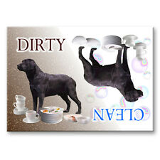 BLACK LABRADOR Clean Dirty DISHWASHER MAGNET New DOG