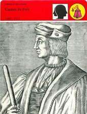 FICHE CARD Gaston de Foix-Nemours 1489-1512 Général de Louis XII France 90s