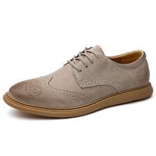 Para hombres Cuero Inteligente Formal Zapatos De Negocio Oficina Informal Con Cordones Mocasines Formales UK