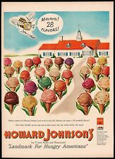Vintage magazine ad Howard Johnsons from 1951 28 flavors of ice cream pictured