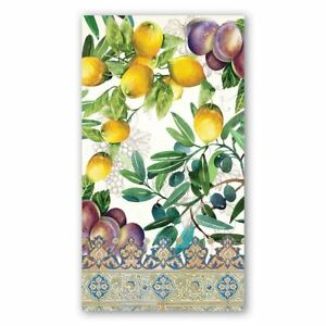 Michel Design Works 15 Triple-Ply Paper Hostess Napkins Tuscan Grove - NEW