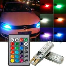 T10 921 194 168 W5W 2825 Remote Control 3W RGB Multicolor LED Parking Light Bulb