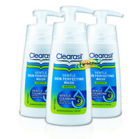 3x Clearasil Daily Gentle Skin Perfecting Wash SENSITIVE Face 150ml