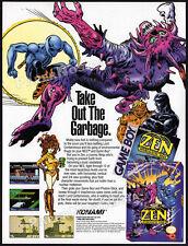 ZEN Intergalactic Ninja__Original 1993 Print AD /  Game Boy / Nintendo promo_NES