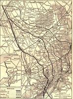 6x4 Foto ww1DB5 Guerra Mondiale 1 Mappa Battles Flanders Ridges Luglio Nov 1910