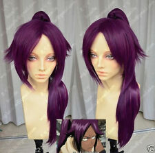 Bleach Shihouin Yoruichi Purple Lolita Cosplay Party Anime Wig Ponytail 60cm